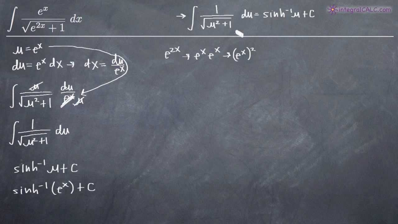 Integrals Of Inverse Hyperbolic Functions Kristakingmath Youtube