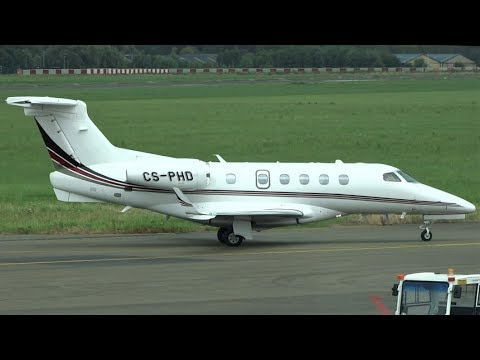 NetJets Europe   CS-PHD   Embraer EMB-505 Phenom 300   Landing, Taxi and Take-off at Antwerp Airport