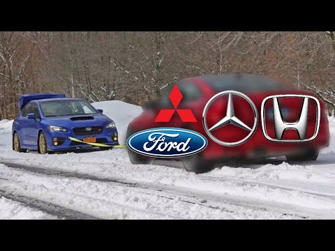 Subaru VS Mercedes-Benz VS Mitsubishi VS Ford VS Honda - Tug Of War
