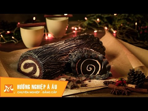 Học làm bánh ngon - Cách làm bánh khúc cây Giáng sinh (Yule Log Cake)