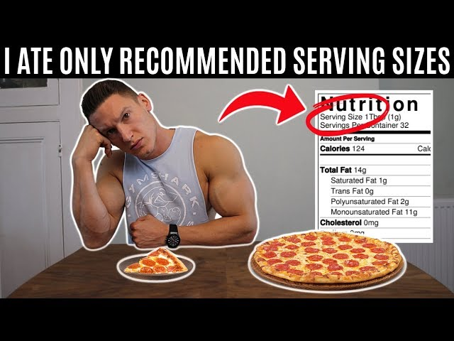 Eating only recommended serving sizes for a day...