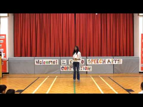 TDSB ER Junior Speech Arts Competition 2015