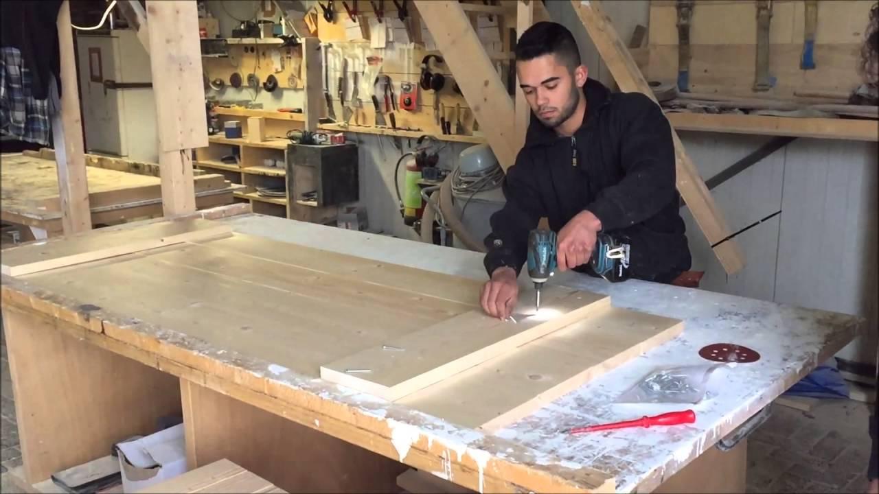 Steigerhout tafel bouwpakket voor de doe het zelver for Pallet tafel zelf maken