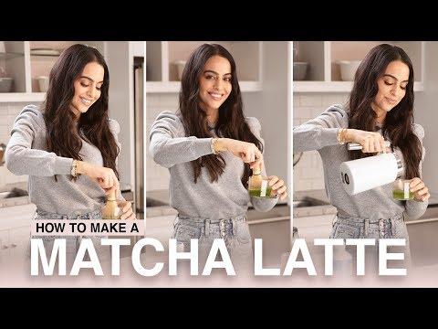 Matcha Latte - How To Make A Matcha Latte | Mona Vand