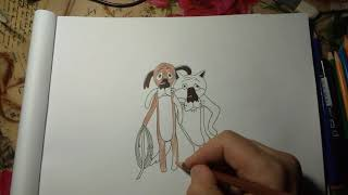 Как нарисовать Жил был пёс.