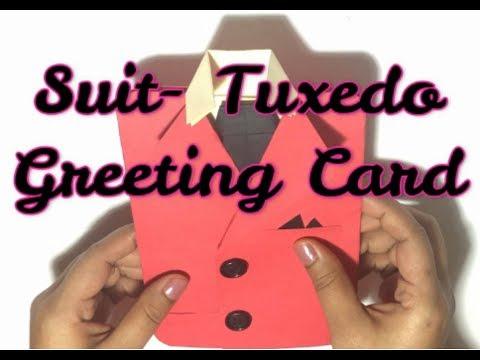 DIY Suit- Tuxedo Greeting Card