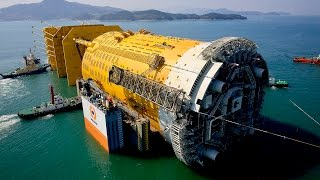 Floating a 46 000 tonnes structure