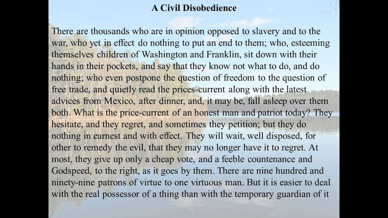 civil disobedience excerpt pdf