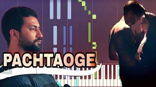 Pachtaoge Piano Tutorial   Arijit Singh    Nora Fatehi   B Praak   Download Free Midi   Sheet Music