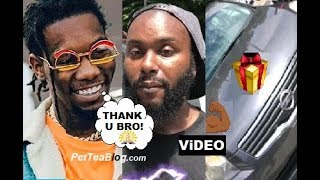 Offset Buys CAR for Man who Walk him Home after he swerved Crackhead (Video)