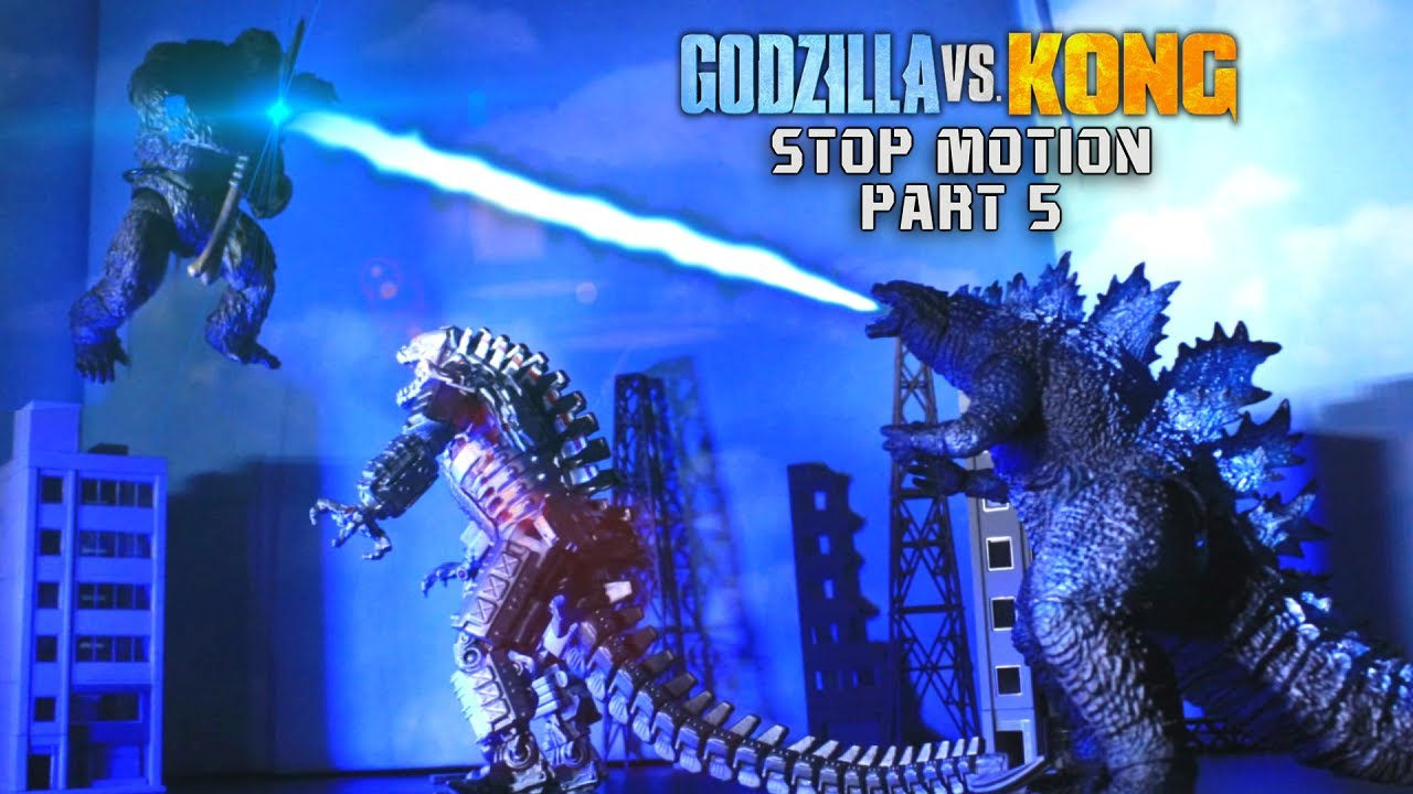 Godzilla and Kong vs Mechagodzilla Stop Motion Part 2 (Godzilla vs Kong Part 5)