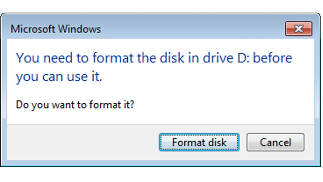 Recovery Raw Format Or Quot You Need To Format The Disk In
