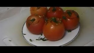 """easy Fresh Stuffed Tomato With Garlic Appetizer Recipe"""