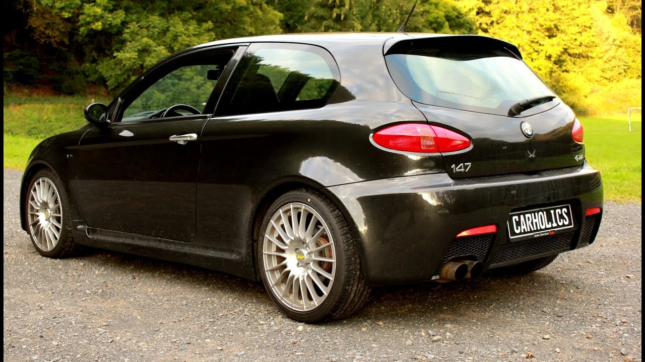alfa romeo 147 gta brutal acceleration sound and top. Black Bedroom Furniture Sets. Home Design Ideas