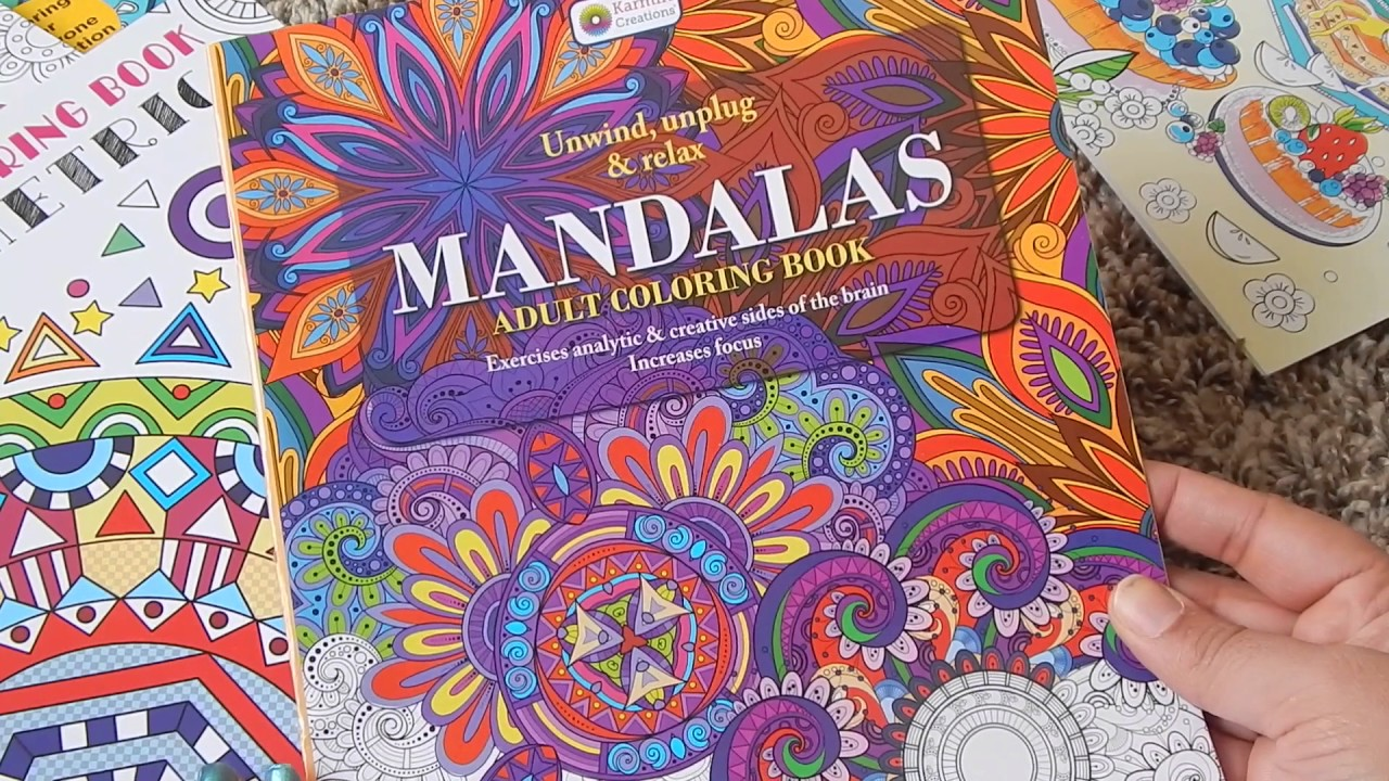 adult coloring book haul targetdollar tree and michales - Dollar Tree Coloring Books