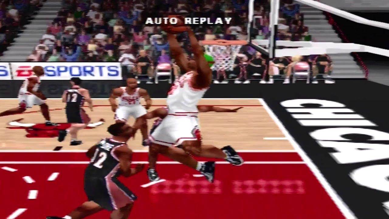NBA Live 99 Finals Rematch Bulls vs Jazz Featuriing Shaq ...