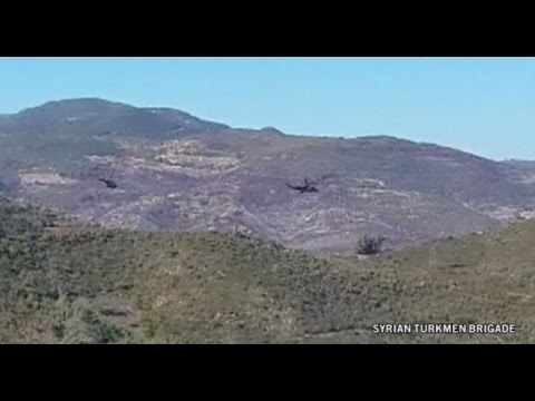 Russian helicopters search for pilots of downed warplane    Syrian turkmen brigade, Reuters