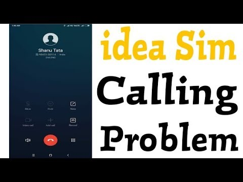 How To Fix Incoming And Outgoing Call Problem Solve In Idea Sim Card
