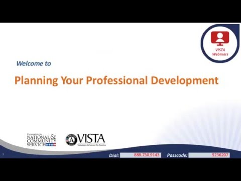 Planning Your Professional Development