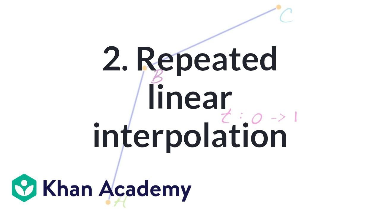 2  Repeated linear interpolation (video) | Khan Academy