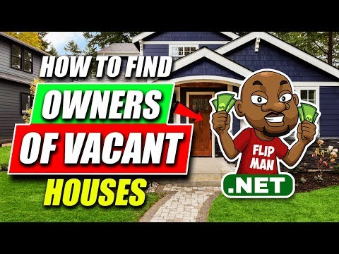 How to Find Owners of Vacant Houses | Wholesaling Houses / Real Estate Step by Step for Beginners