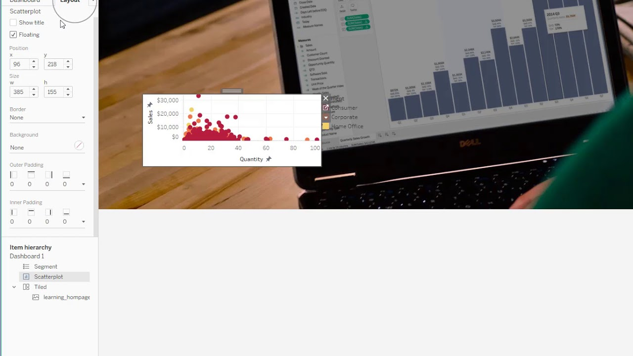 How to overlay transparent worksheets onto a dashboard background image in  Tableau
