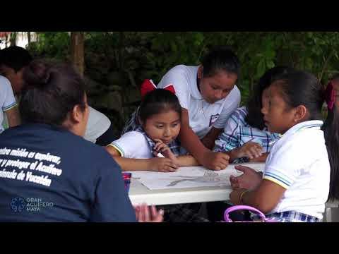 Culmina Cruzada Ambiental de Niños por el Gran Acuífero Maya.