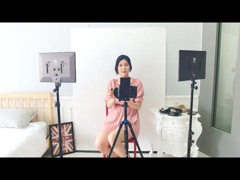 [유쾌한생각] 유튜브 뷰티메이크업용 벽걸이 배경 스튜디오