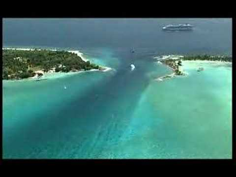 Fanning Island from the air