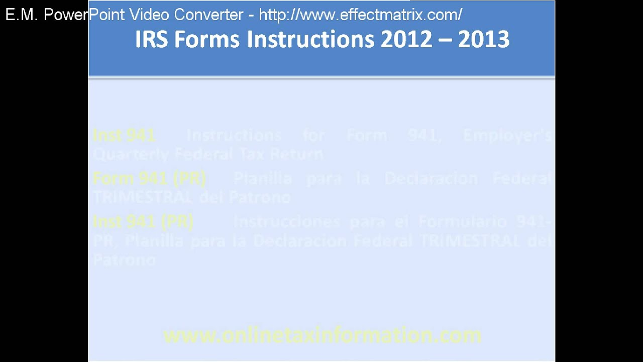 Irs Filing Irs Filing Instructions