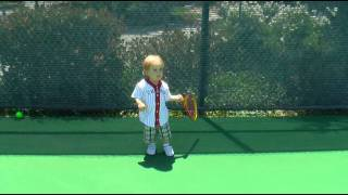 baby tennis player one year old christian haupt before he discovered baseball