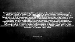 Medical vocabulary: What does Malta mean