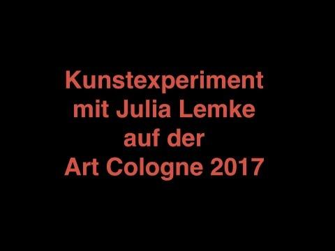 Punkte werden zu einem Bild auf der Art Cologne 2017