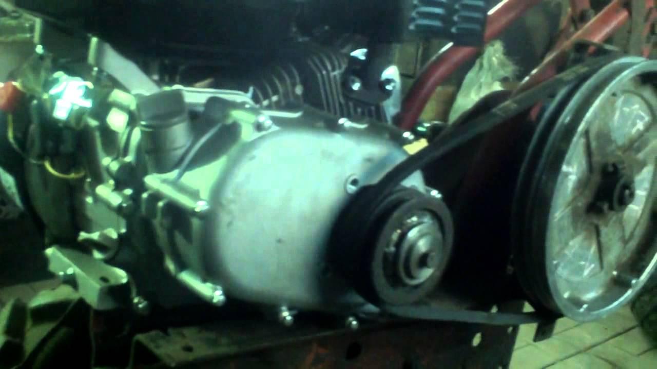 "Установка двигателя ""Лифан F 170 R ""на мотоблок  ""Каскад"""