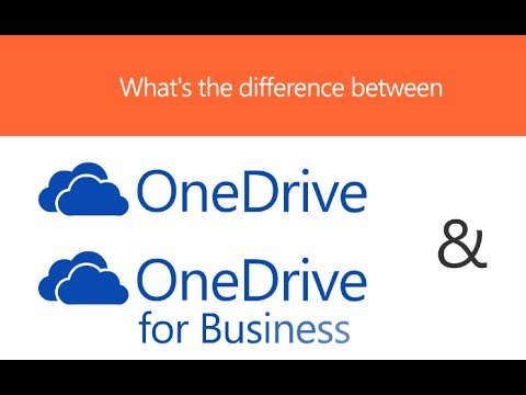 What is the difference between OneDrive and OneDrive for Business