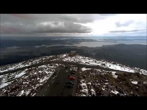 Mt Wellington Hobart Tasmania, snow, winter in Hobart, dji phantom 3 adv