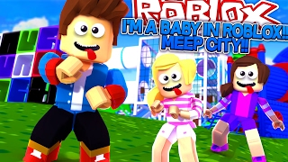 ROBLOX: LITTLE DONNY TURNS INTO A BABY!! MEEP CITY!!