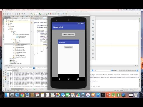 Learn to take a Screenshot programmatically on Android - YouTube