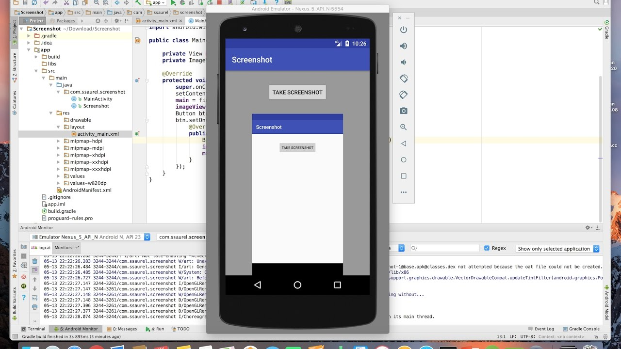 Learn to take a Screenshot programmatically on Android