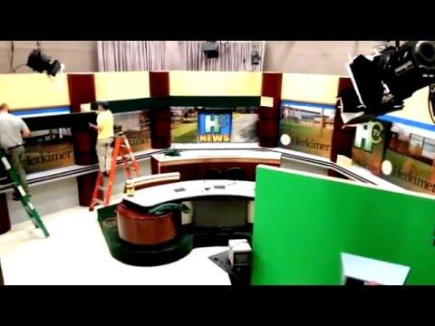 Herkimer College New TV studio set build