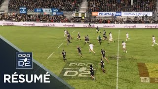 PRO D2 - Résumé Brive-Nevers: 31-13 - J10 - Saison 2018/2019