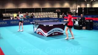 Angela Guan vs Tina Lin  U21 Women's Semifinal