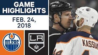 NHL Game Highlights | Oilers vs. Kings - Feb. 24, 2018