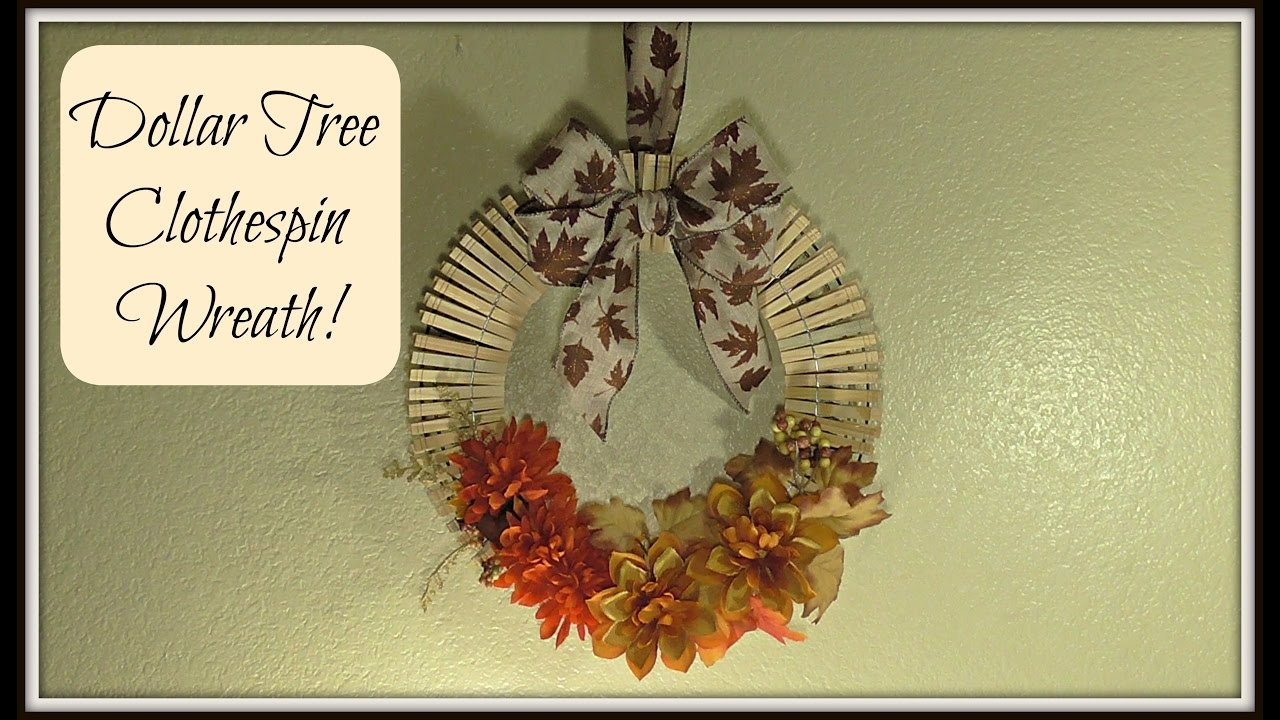 Dollar Tree Clothespin Wreath Fall Home Decor Youtube
