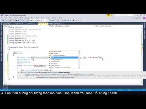 Lập trình hướng đối tượng theo mô hình 3 lớp: Bài 2. Xây dựng lớp DataAccess