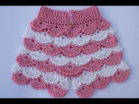 Shorts a crochet para niña muy fácil y rápido
