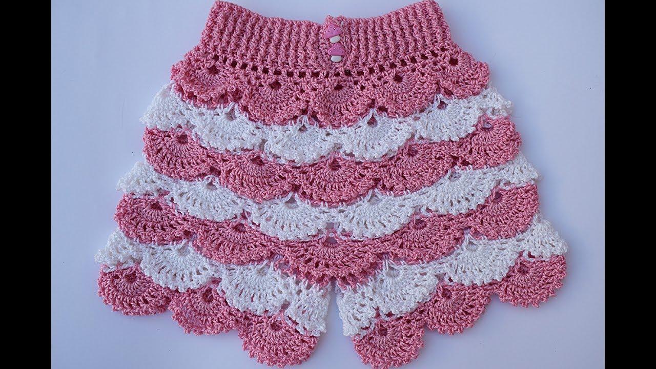 Shorts a crochet para niña muy fácil y rápido - YouTube