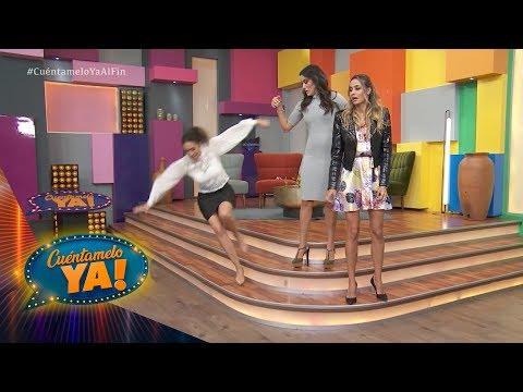 ¡Cynthia Urías da el azotón! en Los Tu- Vasos 2 | Cuéntamelo YA!.. Al fin