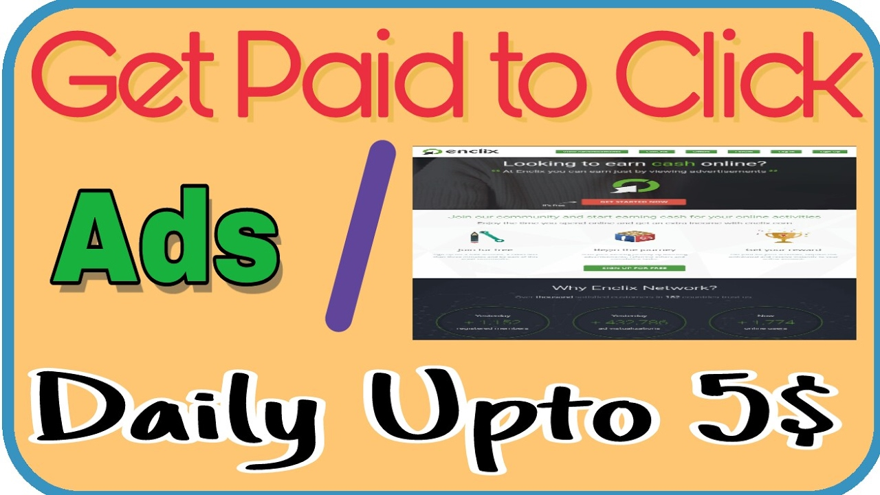 Get paid to click ads - Daily 1$ to 5$ | Redeem through PayPal and