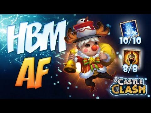 Castle Clash HBM A-F Lil Nick 8/8 War God